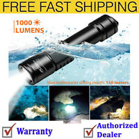 ORCATORCH D520 Diving Flashlight 1000 Lumens Scuba Diving Light Submarine Light
