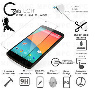 Genuine Gorilla Tempered Glass Film ScratchProof Screen Protector LG Nexus 5X