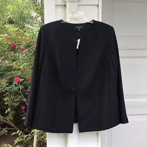 NWT Talbots Pretty & Classic Black Lined Jewel Neck Fully Lined Blazer 18W 2X