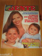 GENTE=1985/25=ORNELLA MUTI=JUVENTUS LIVERPOOL HEYSEL=FRANCO FRANCESE=TUFFARIELLO