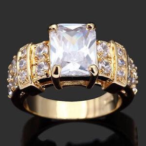 Ring Gr  60 Fingerring Gold gefüllt Goldring Damenring 10 K gestempelt Schmuck