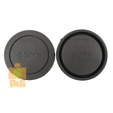 NEW SONY BODY CAP + LENS CAP FOR NEX CAMERA / E-MOUNT LENS