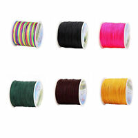 45M 0.8mm Nylon Braided Chinese Knotting Shamballa Macrame Cord String Thread