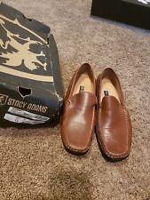 Stacy Adams Size 13 M Men's Cognac leather slip on Dress Shoes 42dp