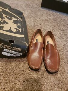 Stacy Adams Size 13 M Men's Cognac leather slip on Dress Shoes 42dp