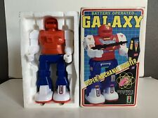 B1 1980s Vintage Battery Operated Toy Robot Galaxy Super Mechanic Fighters W/box