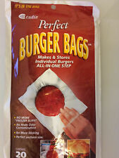 Perfect Burger Bags - Freezer Storing Wrap for Hamburger Patties or Ground Meat