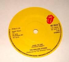 "ROLLING STONES : FOOL TO CRY / Crazy Mama  7"" Vinyl Single 45 (1976)  Ex."