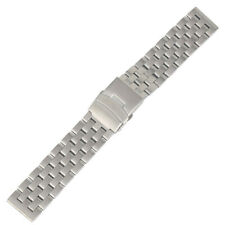 20/22MM Metal Replacement Stainless Steel Strap Band Bracelet with Spring Bars