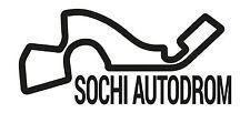 Sotchi course circuit. voiture de vinyle autocollant F1 russe autodrom grand prix formula one