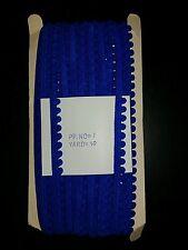 1m Perla Pom Pom Bobble recortar 10mm Recortar Flecos Borlas Azul Real