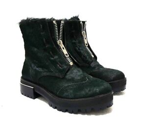 DKNY Womens Dark Green Winter Boots Real Pony Hair Rare Sample Size US 6