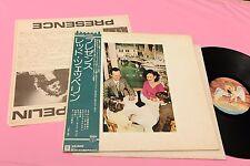 LED ZEPPELIN LP PRESENCE EX JAPAN COMPLETO OBI INNER INSERTO