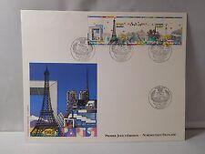 """Grande enveloppe papier soie - 1er jour Bloc """" PARIS """" 1989"""