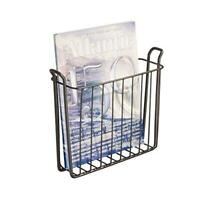 iDesign Classico Steel Wire Wall Mount Newspaper and Magazine Holder Rack for