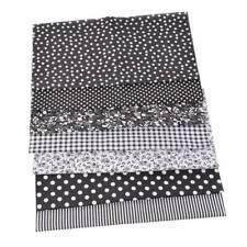7PC/set Cotton Fabric Assorted Pre-Cut Fat DIY Quarters Bundle 25x25 Handmade UK