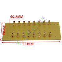4pc copper plated Gold Fiberglass Turret Terminal Strip 16pin Lug Tag Board amp