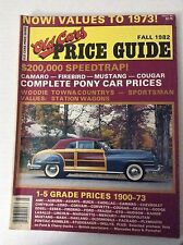 Old Cars Price Guide Magazine Complete Pony Car Prices Fall 1982 032217NONRH
