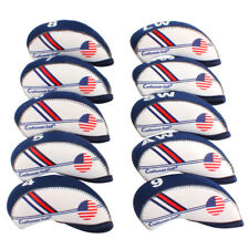 4-9 A S P L Golf Iron Head Covers For Mizuno Titleist Callaway USA Flag 11pcs