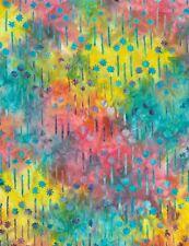 Timeless Treasures Shooting Stars Batik Fabric TONGA-B6210-Multi BTY