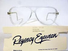 Vintage Regency Eyewear Cobra Crystal 59/12 Men's Eyeglass Frame New Old Stock