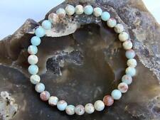 Natural Gemstone Bracelet Aqua Terra Jasper 6mm beads stretchable elasticated