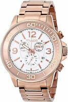 Mulco Women's Ferro MW4-90147-331 46mm White Dial Stainless Steel Chrono Watch