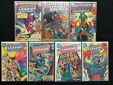 JUSTICE LEAGUE OF AMERICA Lot of 7 DC Comic Books - #40 59 69 151 172 195 215!