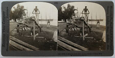 Keystone Stereoview of a Filipino Saw Mill in the Philippines 1910's # 4658 (25)