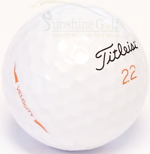 24 NEAR MINT Titleist Velocity 2018 AAAA Used Golf Balls - FREE SHIPPING