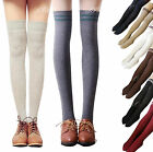 Fashion Womens Girls Knit Cotton Over Knee Thigh High Stockings Socks Tights Leg