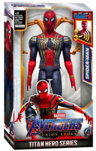 Talking Iron Spider-Man Marvel Avengers Titan Hero Series Power FX Boy Toy Gift
