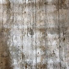 Rustic Wood Plank Effect Print PVC Oilcloth Table Cover by the metre