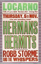 "Hermans Hermits Locarno 16"" x 12"" Photo Repro Concert Poster"