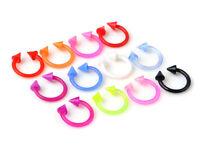 Lot 10pcs 18G FLEXIBLE Acrylic Spike Horseshoes Tragus Lip Eyebrow Rings