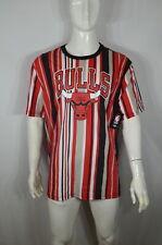 NBA Chicago Bulls T shirt XXL Striped Red NWT