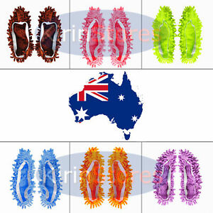 1 Pair Multifunction Mop Clean Slippers Cleaning Shoe Microfibre
