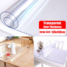 Soft Glass Clear PVC Table Desk Protector Cover Mat Tablecloth Square Waterproof
