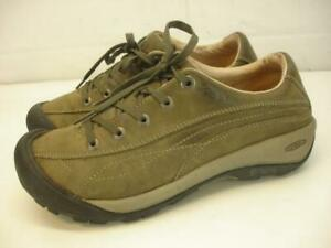 KEEN Women's 8 M Toyah Green Leather Shoes Lace-Up Comfort Oxfords Hiking Casual