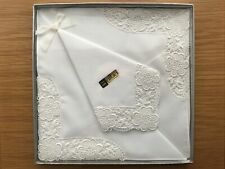 Vintage  boxed ladies handkerchiefs Swiss Lace