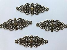 25 pcs Bronze Embellishment Scrapbooking Paper Filigree Metal Stamping Lace