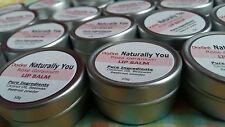 100% Natural Rose Geranium Essential Oil Mottled Lip Balm [ Solid Pot ] Beetroot