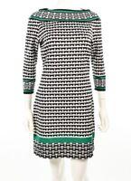 Max Studio 139354 Black & White Pattern 3/4 Sleeve Dress Sz L $118