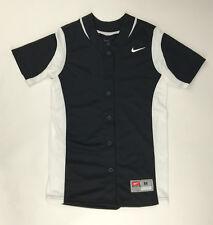 New Nike Vapor Full-Button Softball Performance Jersey Women's M Black 630600