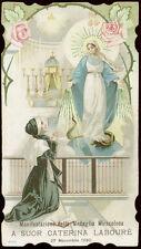 antico santino cromo-holy card S.CATERINA LABOURE'