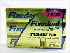 3 Pack Fixodent Ultra Denture Adhesive Cream 2.2oz New Free Shipping