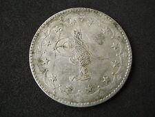 Turkey, 20 Kurush, AH 1277/14, silver, toned, nice