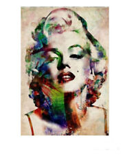 ZOPT261 hand painted multicolor Marilyn Monroe portrait art OIL PAINTING CANVAS