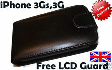 LEATHER CASE FOR APPLE iPHONE 3GS,3G+Free LCD Guard(UK)