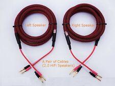 S03 (1m 3ft) --- Pair(2pcs) HIFI Audiophile Banana Audio Speaker Cables 4x12awg